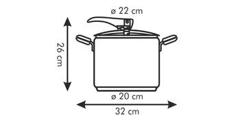 Tescoma MAGNUM tlakový hrnec 7 l