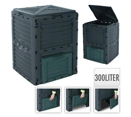 Kompostér, 300 l, černá, 80 x 59  x 60 cm