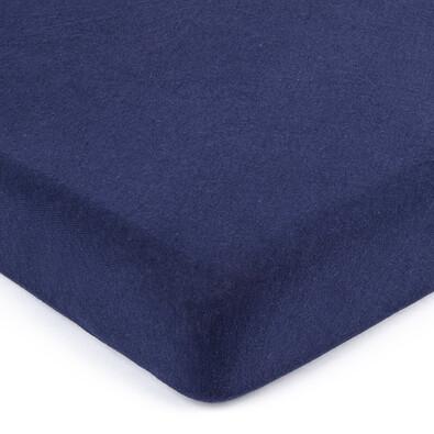4Home jersey prostěradlo tmavě modrá, 180 x 200 cm