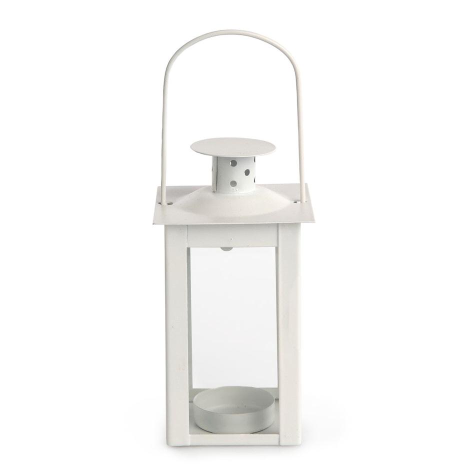 Altom Kovová lucerna na čajovou svíčku Elena, 7,5 x 14 cm