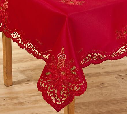 Vánoční ubrus červený, 120 x 140cm, červená, 120 x 140 cm