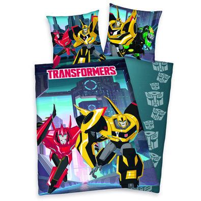 Dětské bavlněné povlečení Transformers, 140 x 200 cm, 70 x 90 cm