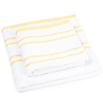 Sada ručníku a osušky Snow žlutá, 50 x 100 cm, 70 x 140 cm