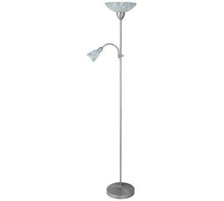Stojací lampa Rabalux Flower 4092, bílá + chrom, pr. 25 x 178 cm