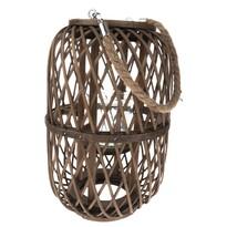 Bambusový lampáš so sklom Helga, 20 x 30 cm