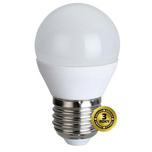 Solight LED žiarovka, miniglobe, 6W, E27, 3000K, 420L