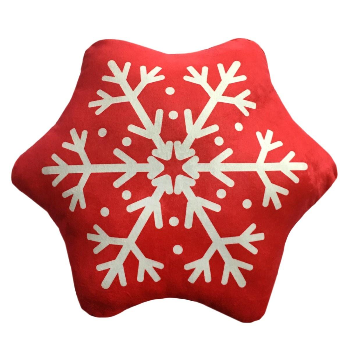 Domarex Vianočný tvarovaný vankúšik Snehová vločka, 30 cm