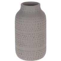Asuan kerámia váza, barna, 19 cm