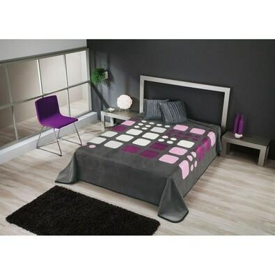 Španělská deka Piel Domino, 220 x 240 cm, fialová
