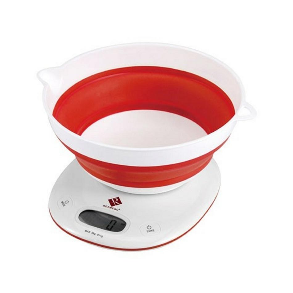 Renberg digitálna kuchynská váha červená,