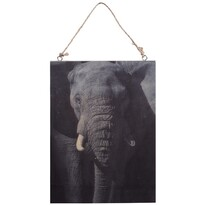 Koopman Elefánt fafestmény, 28,5 x 20,5 cm
