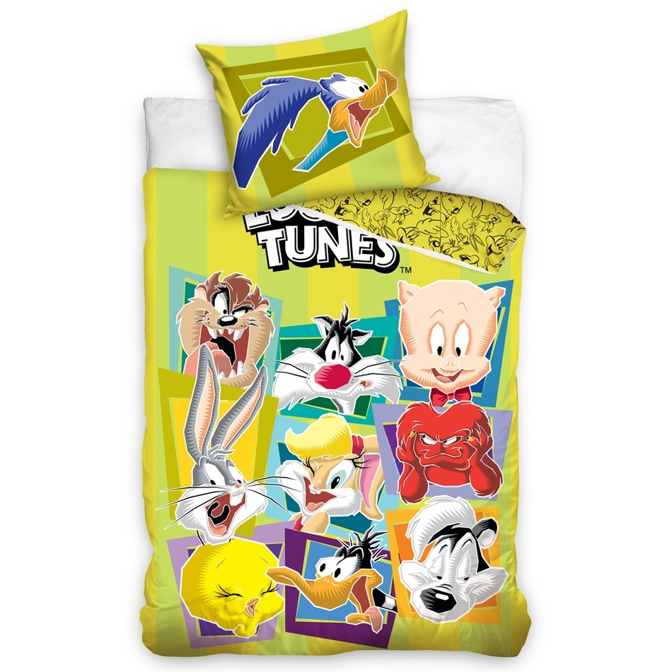 Looney Tunes gyermek pamut ágynemű, 140 x 200 cm, 70 x 80 cm