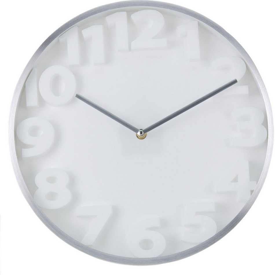 Nástenné hodiny Number, biela