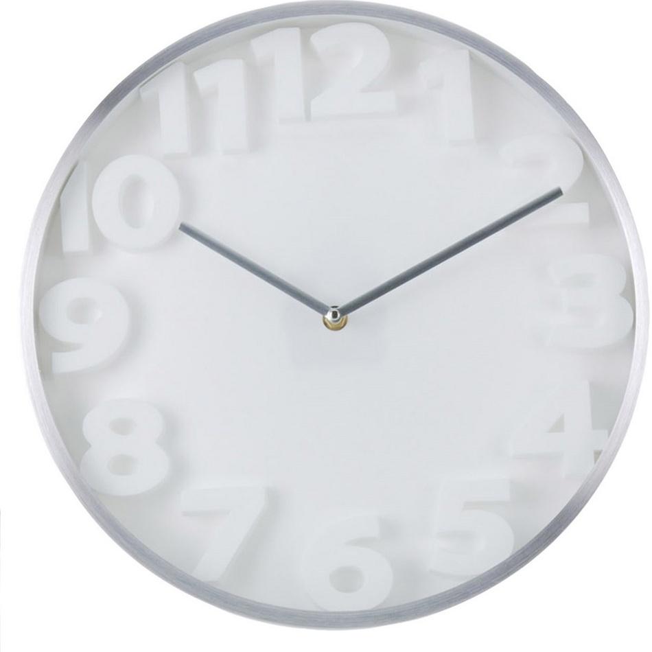 Nástěnné hodiny Number, bílá