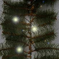 Karácsonyi girland fényekkel, 270 cm