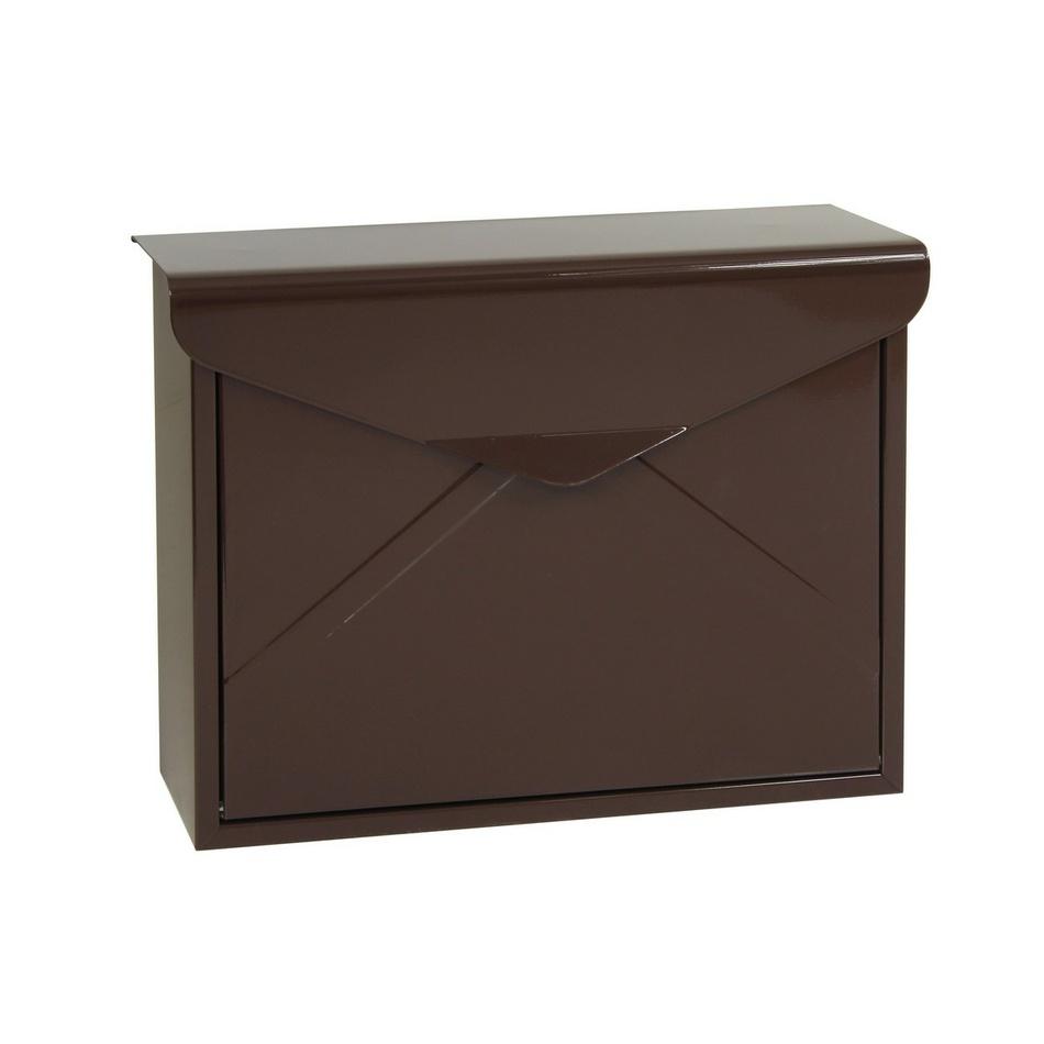 Richter Stalowa skrzynka pocztowa Monza, brązowy