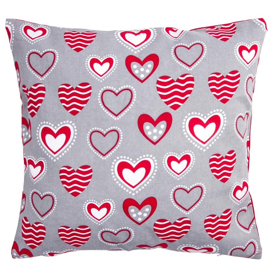 Hearts párnahuzat, 40 x 40 cm