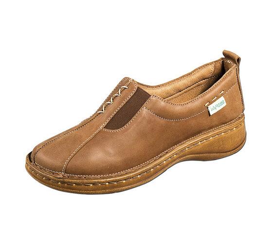Dámska nasúvacia obuv, hnedá, 37