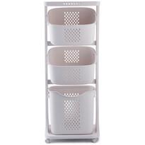 4Home Uniwersalne kosze do przechowywania na kółk ch TRIS, 3 piętra