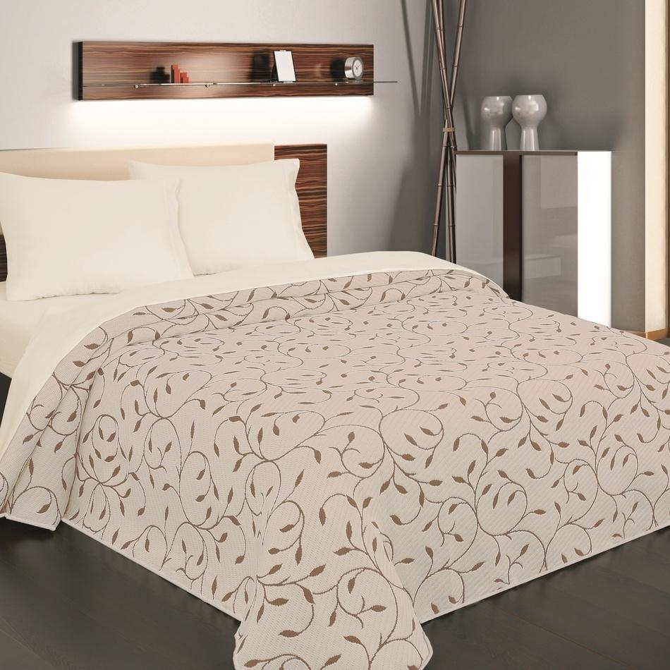 Forbyt Přehoz na postel Indiana hnědá, 140 x 220 cm