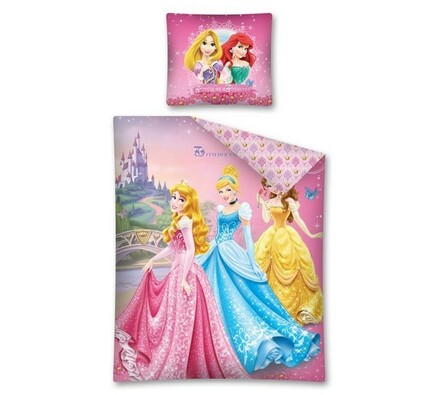 Dětské povlečení Princezny, 140 x 200 cm, 70 x 80 cm