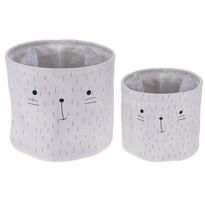 Sada dekoračných košíkov Hatu Mačka, 2 ks