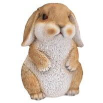 Polyresinová dekorace sedící králík Bunn hnědá, 15 cm