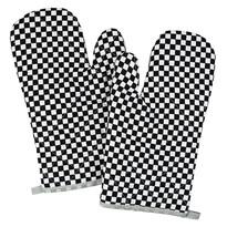 Rękawica kuchenna Kostki czarno-biała, 28 x 18 cm, zestaw 2 szt.