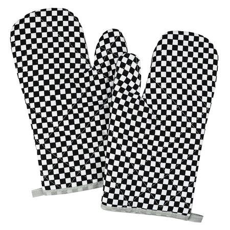 Chňapka Kocka čiernobiela, 28 x 18 cm, sada 2 ks