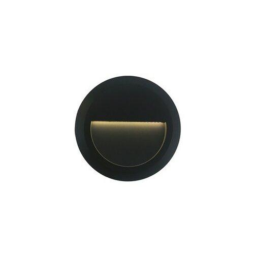 Solight LED přisazené dekorativní světlo venkovní, IP65, 85lm, 4100K, kulaté, antracit