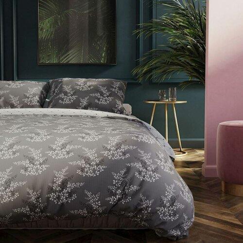 DecoKing Povlečení Hypnosis Calluna šedá, 140 x 200 cm, 70 x 90 cm
