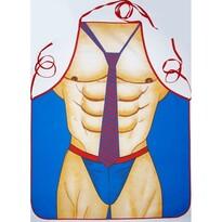 Férfi test konyhai kötény, 60 x 73 cm