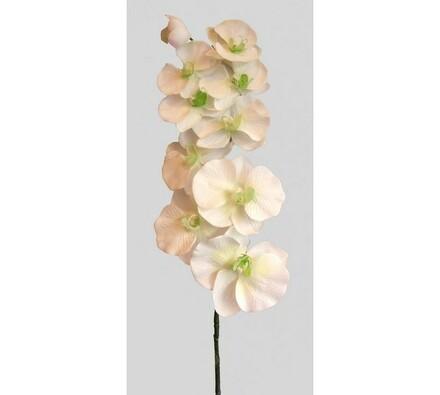 Umělá květina orchidej, bílá, bílá, 93 cm