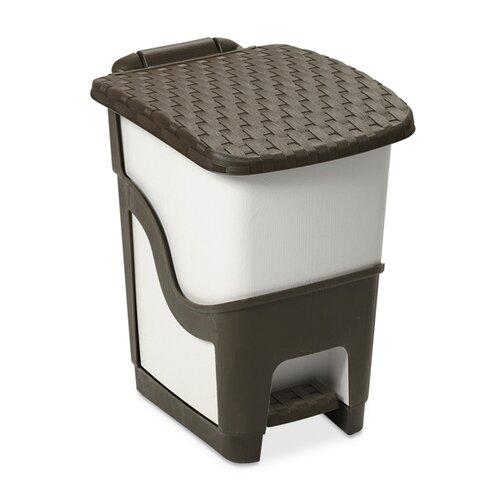 Coș de gunoi din ratan 18 l, alb și maro imagine 2021 e4home.ro