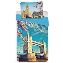 Jerry Fabrics Pościel bawełniana London blue, 140 x 200 cm, 70 x 90 cm