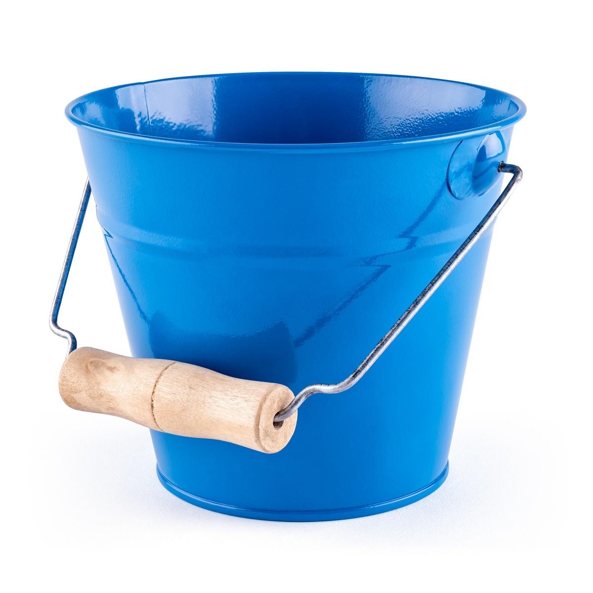 Woody Zahradní kyblík - modrý, kov