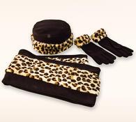 Zimní sada Leopard, hnědá