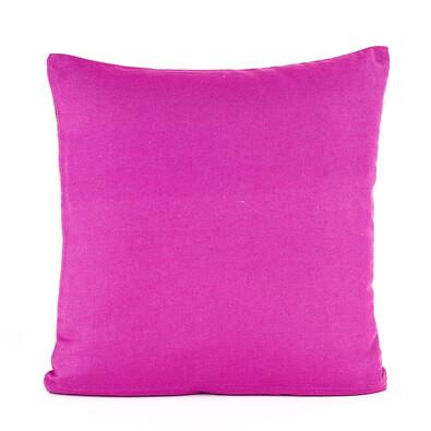 Povlak na polštářek režný růžová, 40 x 40 cm