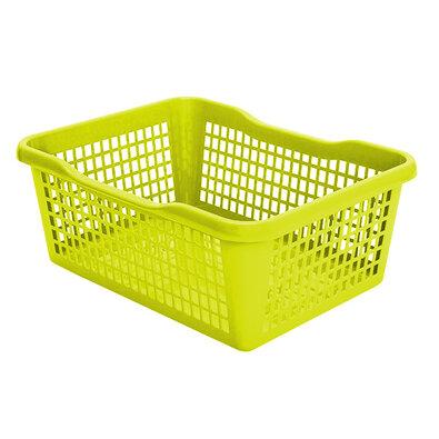 Plastový košík 29,8 x 19,8 x 9,8 cm, zelená