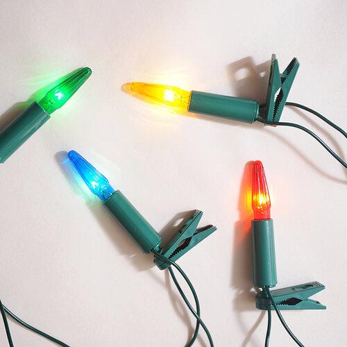Svetelná reťaz Asteria farebná, 16 žiaroviek