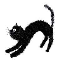 Halloweenská kočka Black, 18 x 13,5 cm