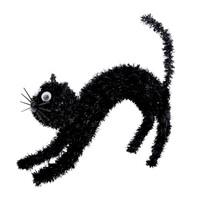 Halloweenská mačka Black, 18 x 13,5 cm