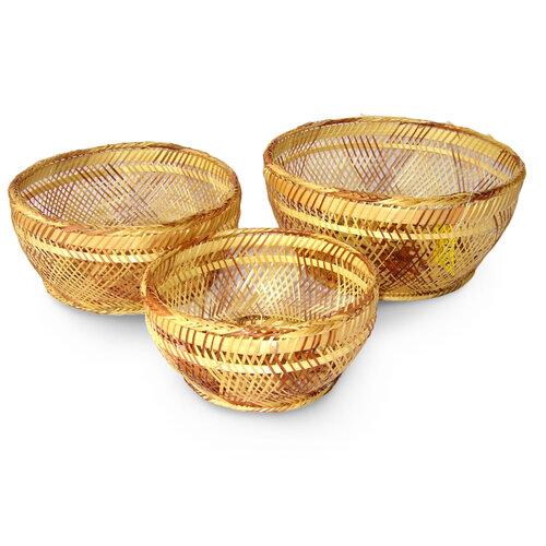 Bambusová miska 3 kusy