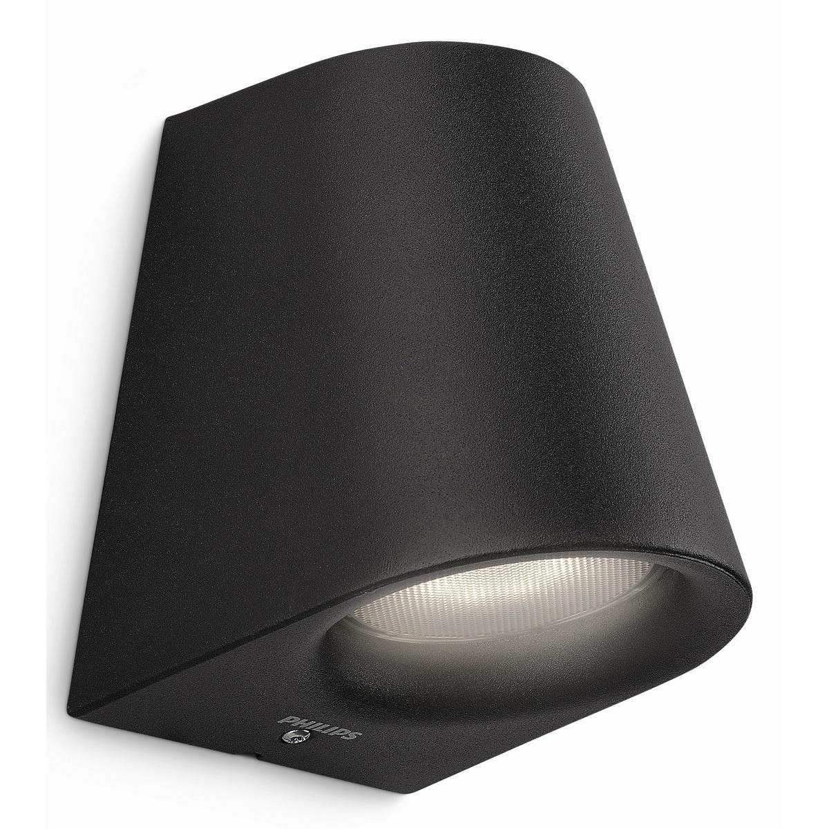 Philips 17287/30/16 Virga Vonkajšie nástenné LED svietidlo 12 cm, čierna