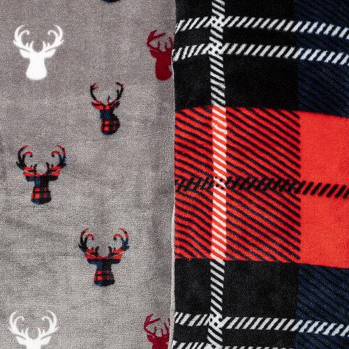 4Home obliečky mikroflanel Kocka červená, 140 x 220 cm, 70 x 90 cm