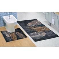 Bellatex Sada kúpeľňových predložiek Pierko 3D, 60 x 100 cm, 60 x 50 cm