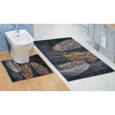 Bellatex Tollas fürdőszobai szőnyegkészlet, 3D, 60 x 100 cm, 60 x 50 cm