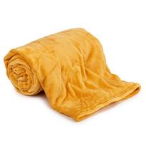 Koc Aneta żółty, 150 x 200 cm