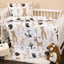 Lenjerie de pat copii, din bumbac, 4HomeNordic Friends, 100 x 135 cm, 40 x 60  cm