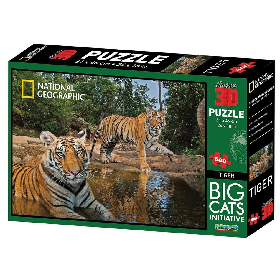 VOG 3D puzzle National Geographic tiger, 500 dielikov